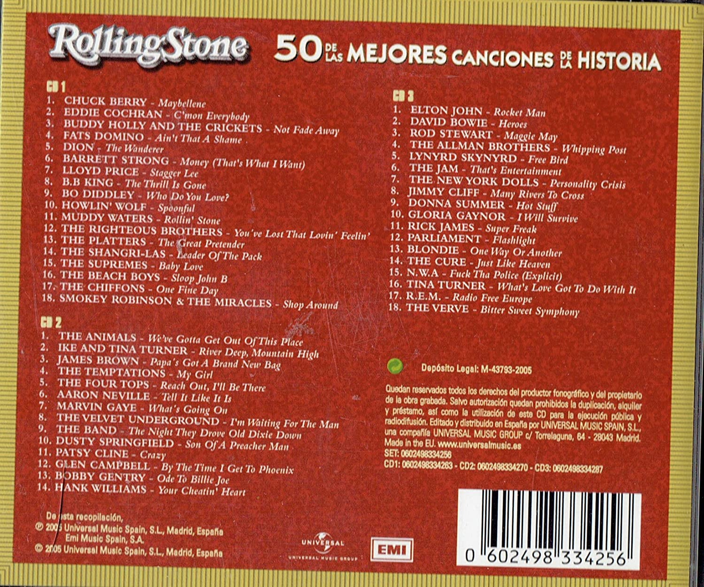 Rolling Stone 50 De Las Mejores Canciones De La Historia Various