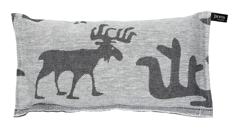 Sarvipää 6471-155-rp Coussin de Cou Lin/Coton Gris/Blanc 40 x 22 x 8 cm