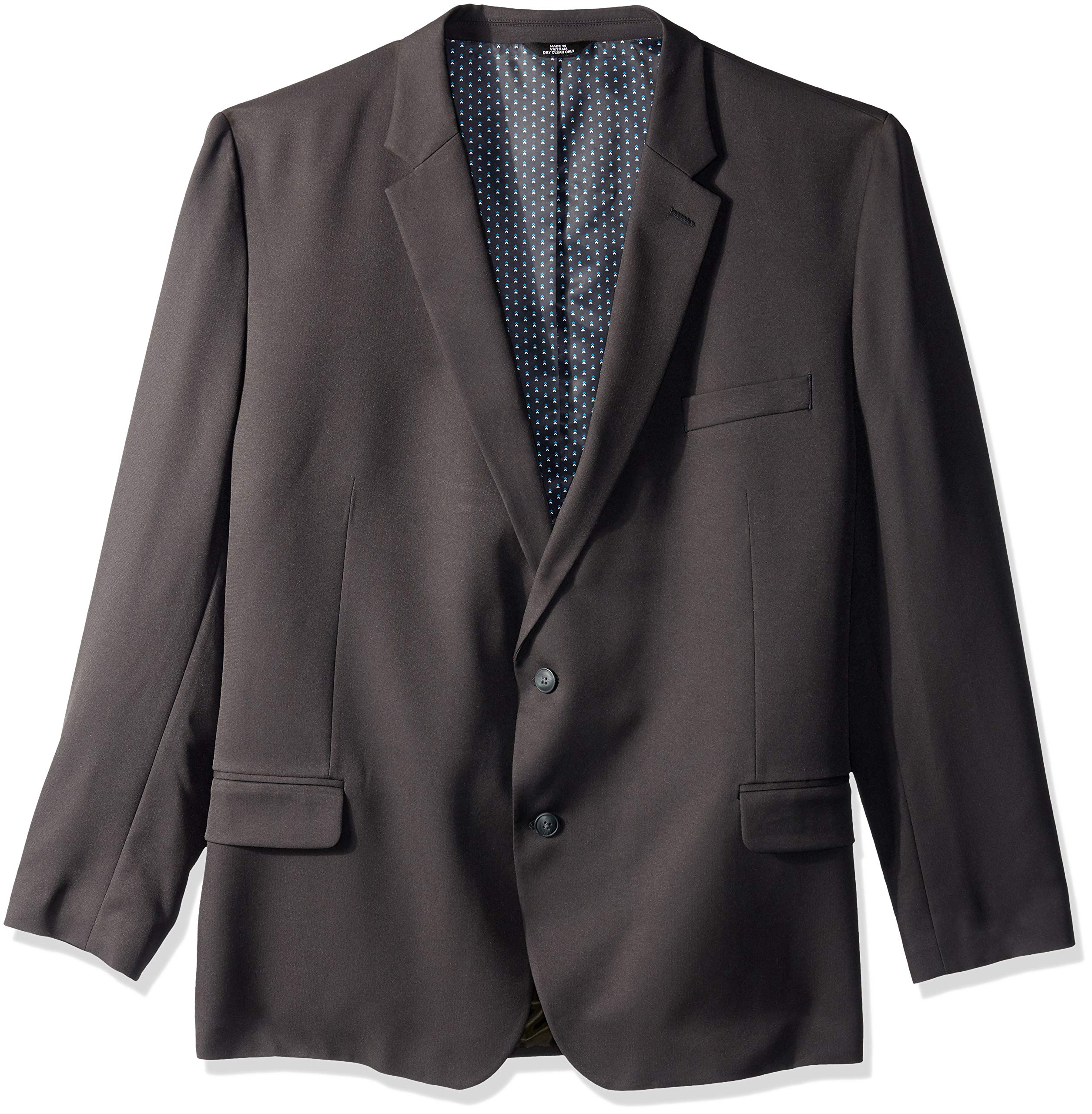 Haggar Men's Big and Tall B&T Active Series Stretch Classic Fit Suit Separate Coat, Charcoal, 52L by Haggar