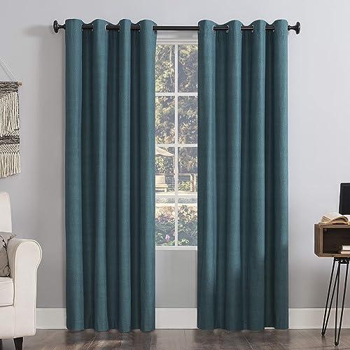 Sun Zero Columbia 2-Pack Thermal Energy Saving 100 Blackout Grommet Curtain Panel Pair