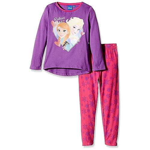 Disney Frozen - Pijama de Manga Larga, para Niñas
