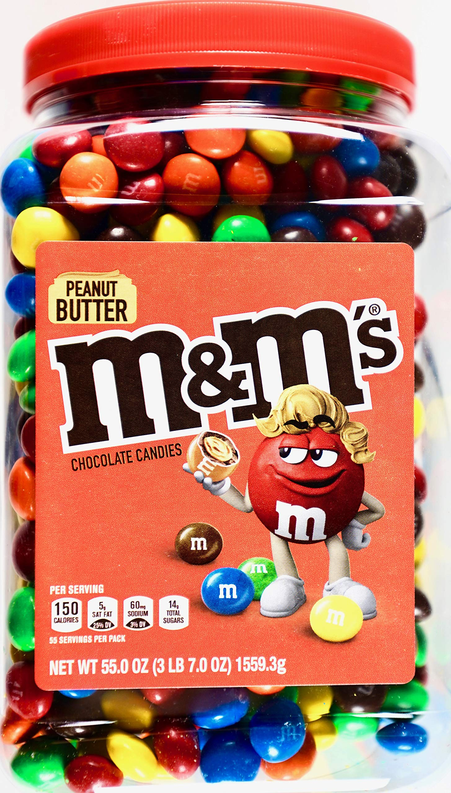 M&M's Peanut Butter Chocolate Candy, 55 Ounce