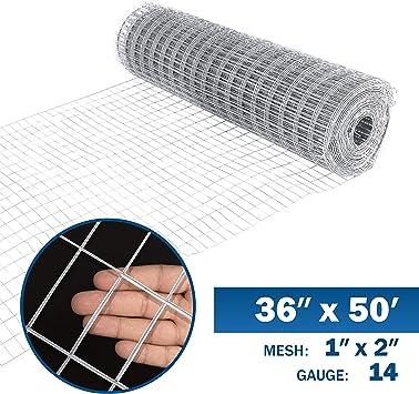14-Gauge Vinyl Galvanized Welded Wire Fence Fencing x 50 ft 5 ft