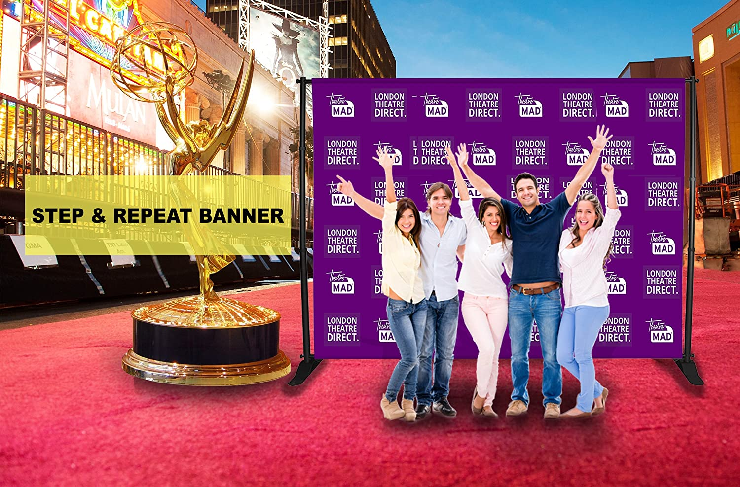 80th Personalized Step and Repeat Party Vinyl Backdrop 3x5ft  5x7ft 8x10ft Royal Birthday Graduation