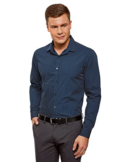 oodji Ultra Uomo Camicia Stampata Slim Fit