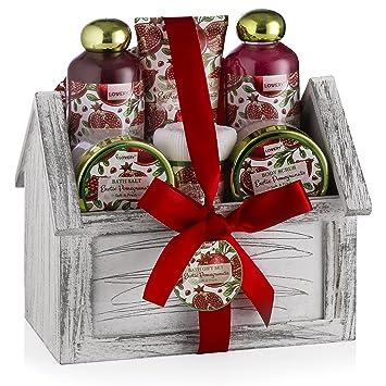 christmas gifts spa bath basket set luxury 8 piece bath body set for