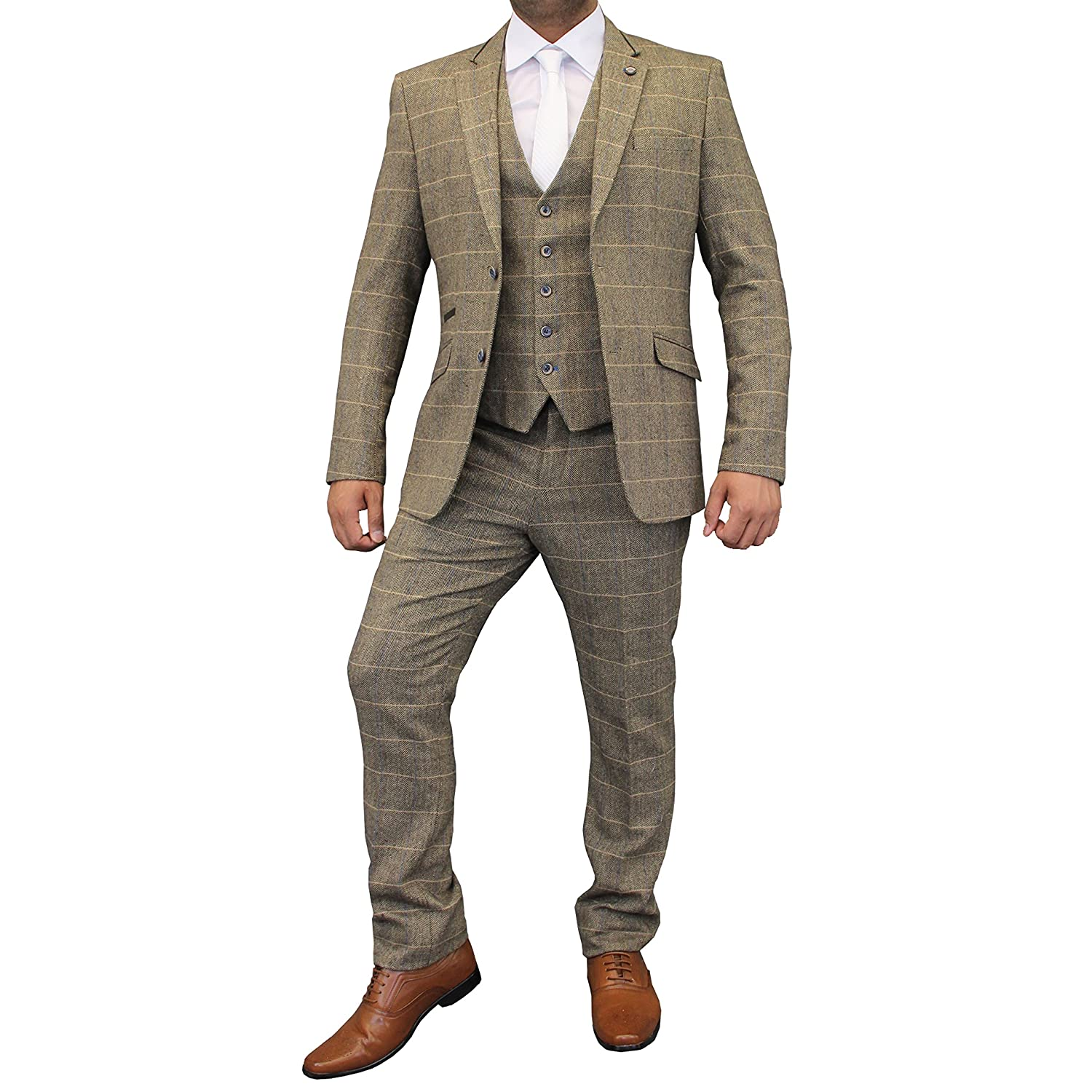 Vintage Style Children's Clothing: Girls, Boys, Baby, Toddler Creon Previs Boys Wool Mix Suits 3 Piece Tweed Cavani Blazer Waistcoat Trouser £59.98 AT vintagedancer.com