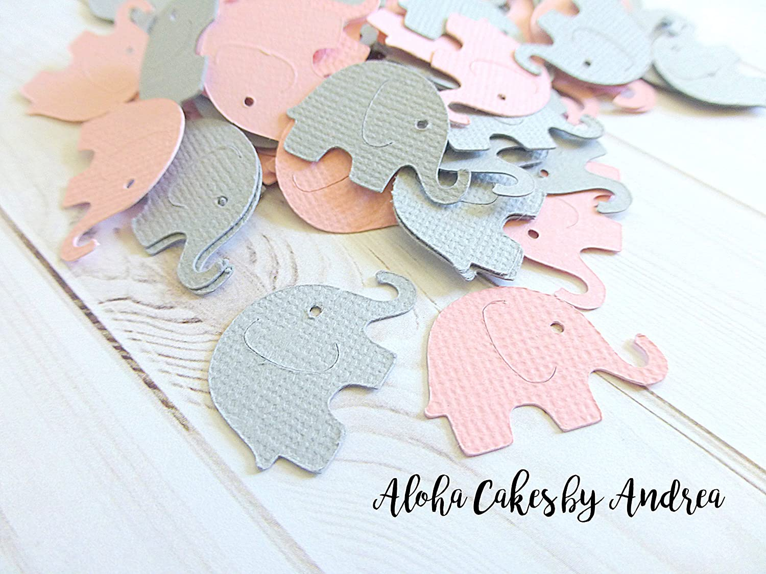 Amazon.com: Pink And Gray Elephant Confetti, Girl Baby Shower Decoration,  Its A Girl, Little Peanut, Package Of 100: Handmade