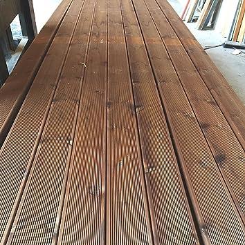 Suelo de madera para exterior / piscina de Decking de Pino+, 12 x 2,8 x 205 cm, 2 piezas: Amazon.es: Bricolaje y herramientas