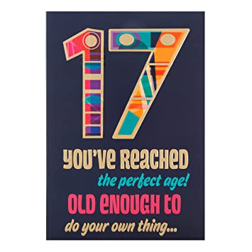 Amazon Hallmark 17th Birthday Age 17 Greeting Card Do Your Own