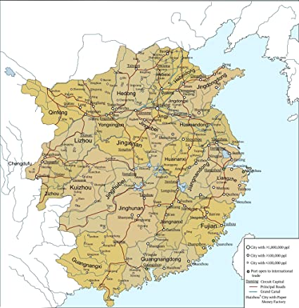 Amazon.com: Home Comforts Framed Art Your Wall Map Song Dynasty ...