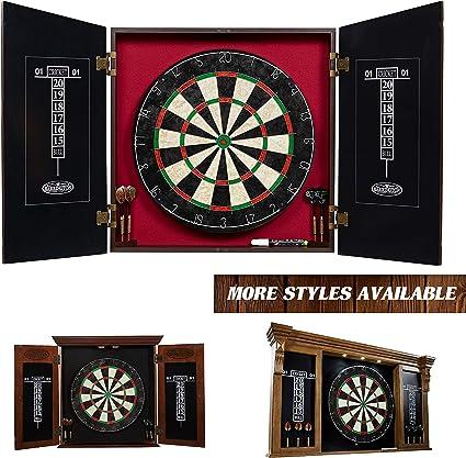 Amazon Com Barrington Paxton Dartboard Cabinet Set Sports