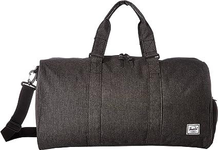 84c2bd984be0 Image Unavailable. Image not available for. Color  Herschel Novel Mid-Volume  Duffel Bag Black Crosshatch One Size