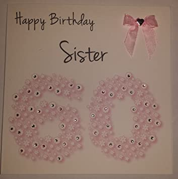 Amazon.com: Tarjeta de felicitación de cumpleaños – Hermana ...