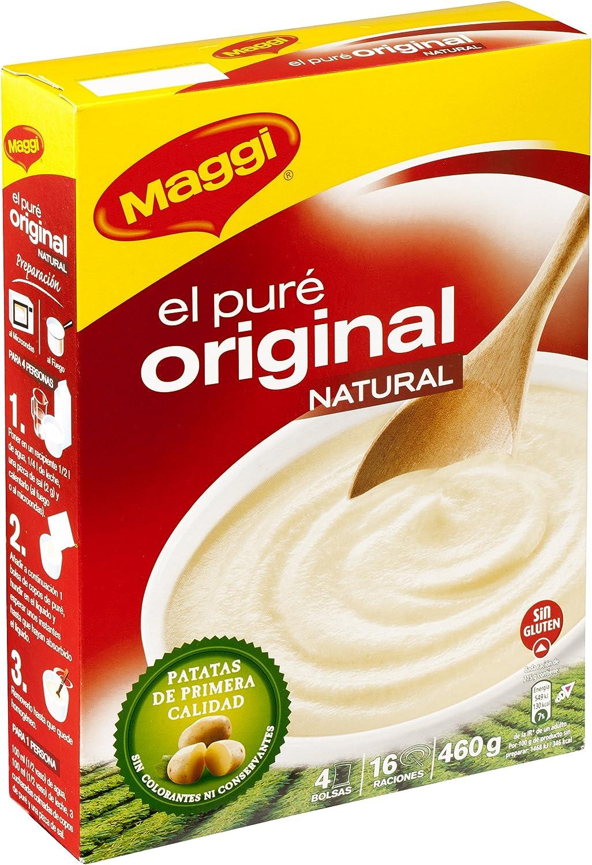 Maggi Puré de patatas Original Natural - 4 bolsas - 460 gr: Amazon.es: Alimentación y bebidas