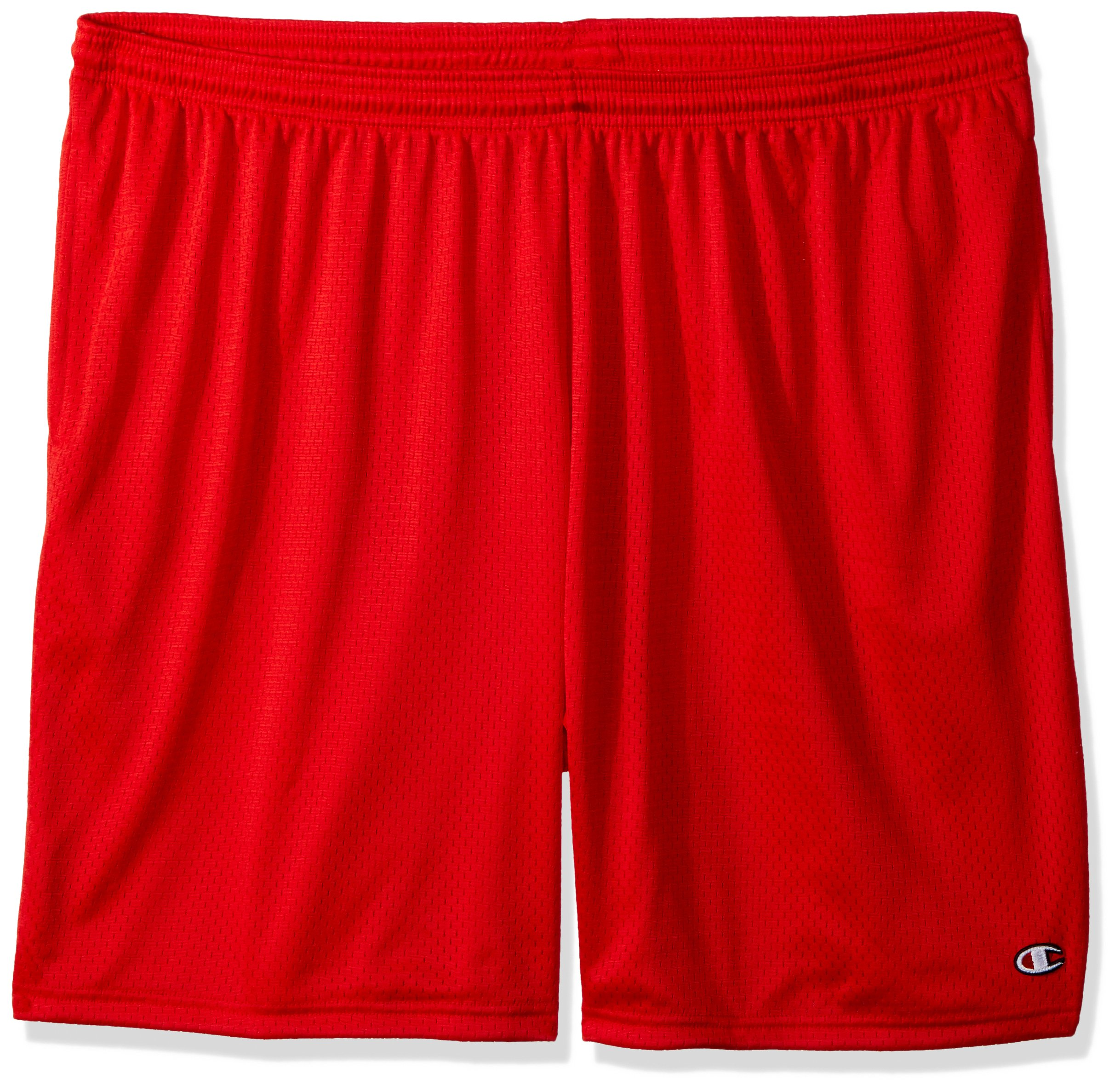 Champion Men's Long Mesh Short with Pockets,Crimson,X-Large by Champion