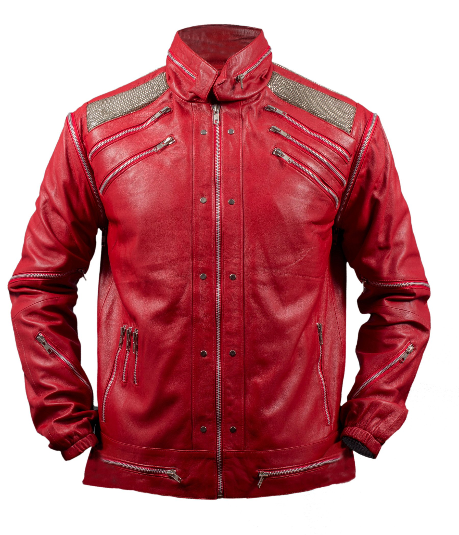 F&H Boy's Michael Jackson Beat It Jacket M Red by Flesh & Hide