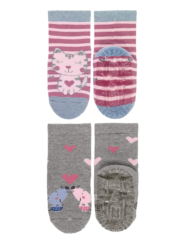 2 Paar Sterntaler M/ädchen FLI AIR DP Katze//M/äuse  Socken