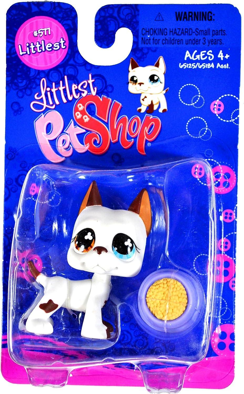 Littlest Pet Shop Littlest Figure Great Dane with Food Bowl