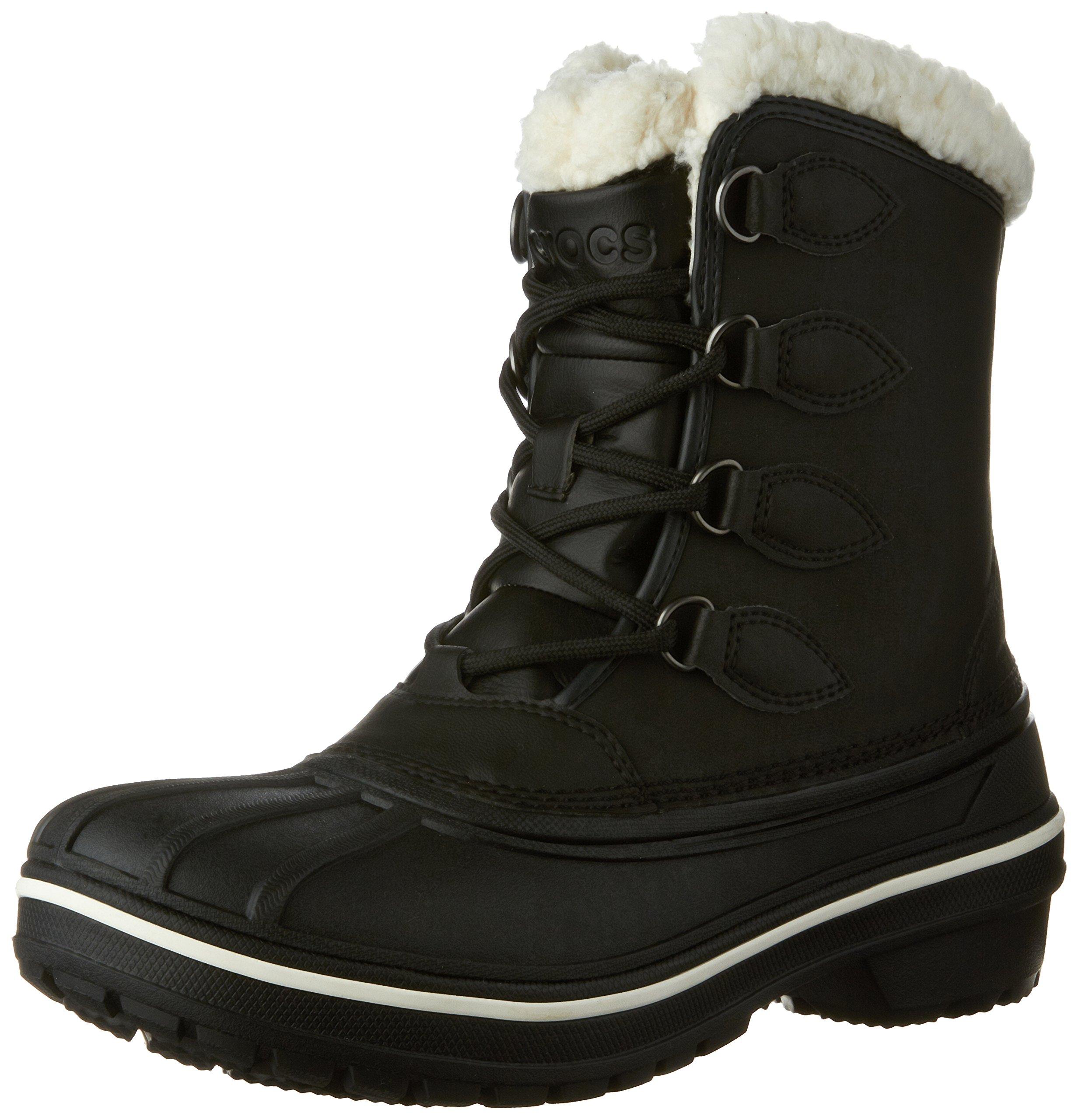Crocs Women's AllCast II Snow Boot, Black, 10 M US