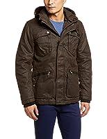 Esprit旗下edc 男士 黑色成熟稳重多袋长袖外套 KD5106F