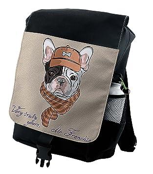 01250235cf97 Amazon.com: Lunarable Vintage Backpack, French Bulldog Animal Humor ...