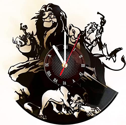 Lion King Vinyl Record Wall Clock . Get unique home room wall art decor. Cool gift ideas for boys, girls, kids, teens, men and women.
