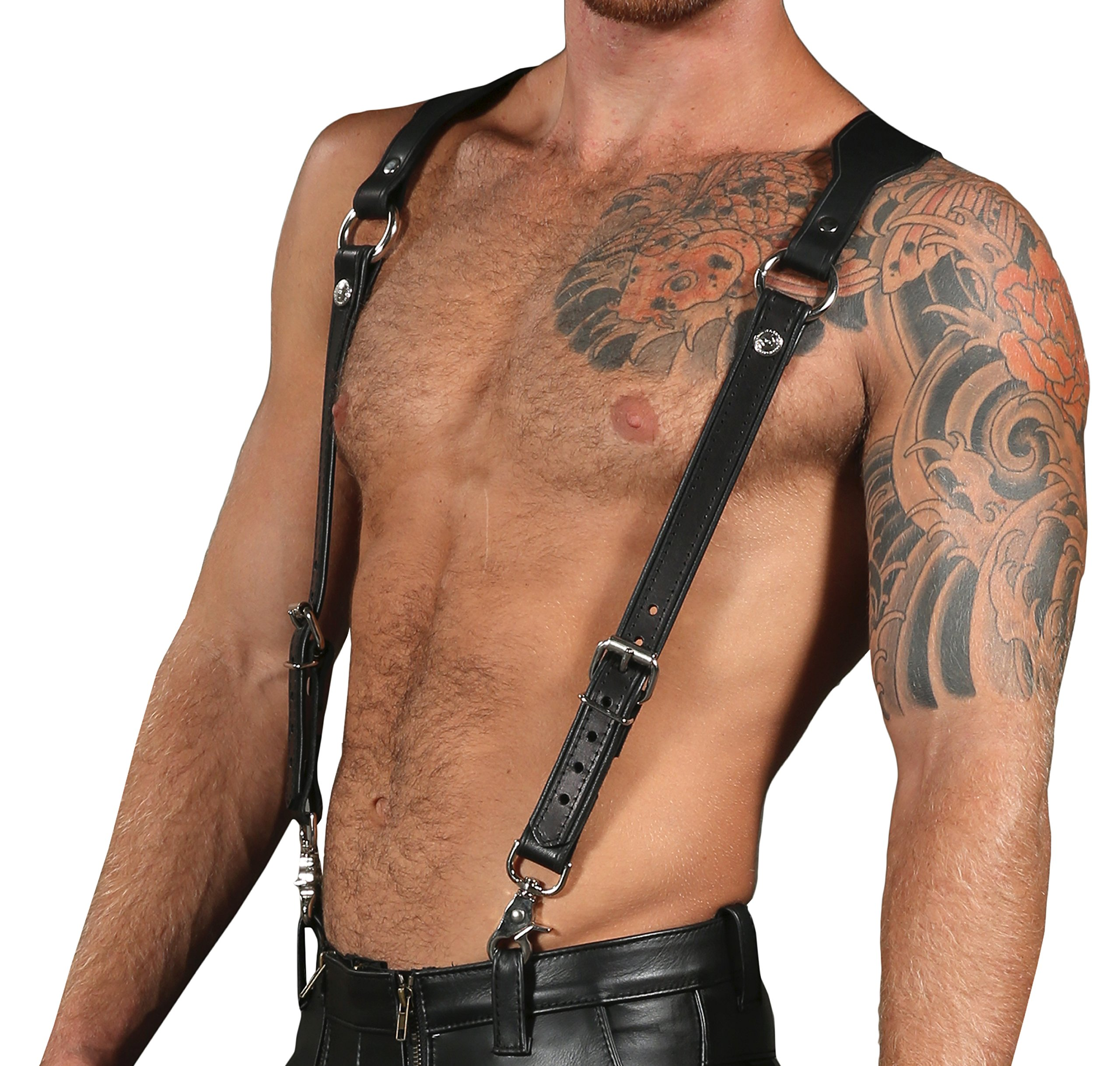Leather Suspender Harness Combo