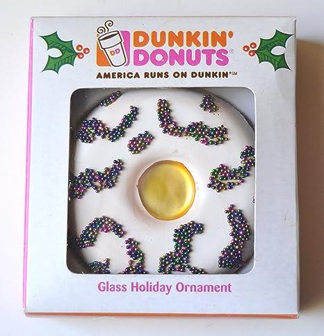217bbef54fef4 Dunkin' Donuts Vanilla Doughnut Glass Holiday Ornament