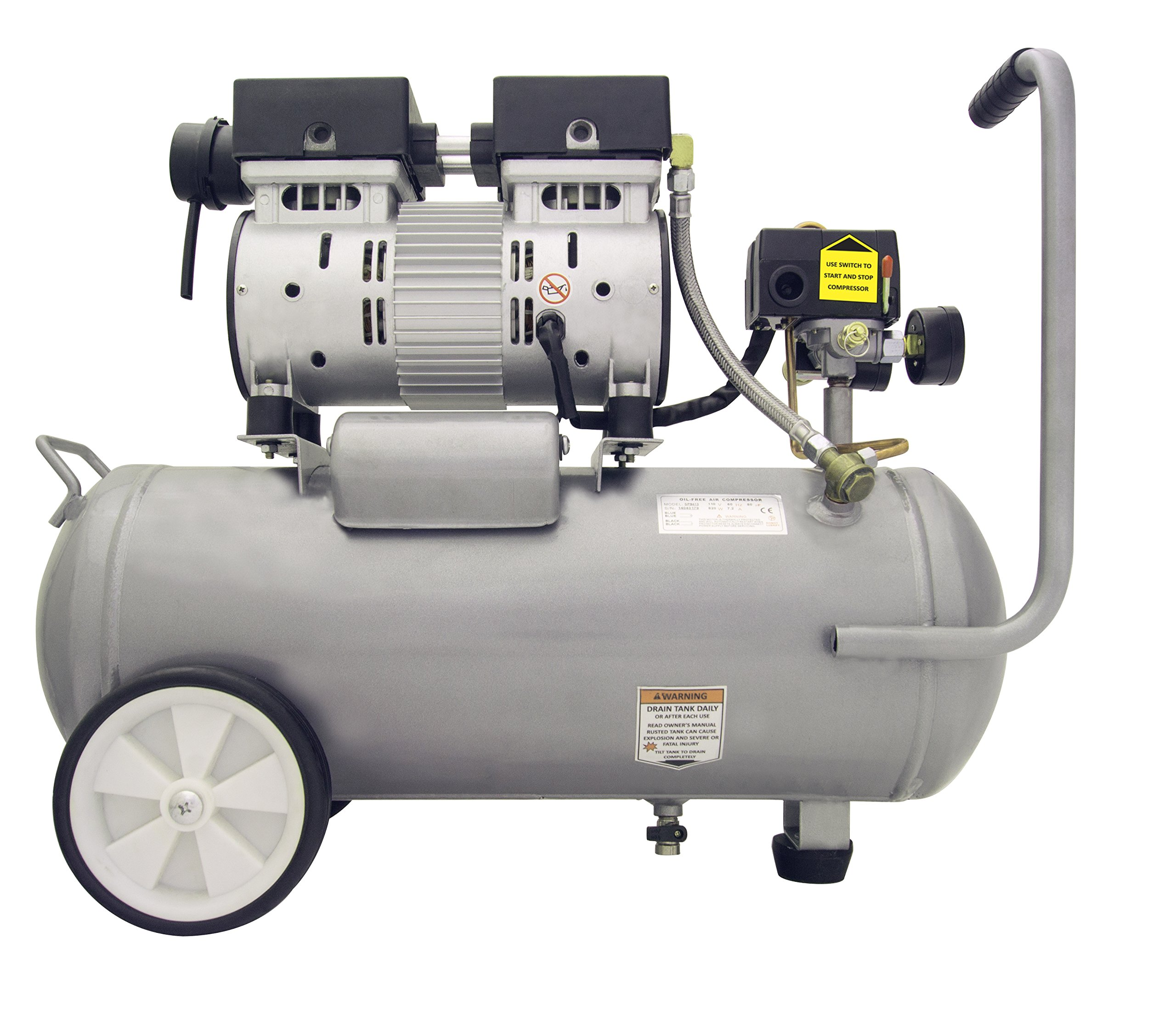 California Air Tools 5510SE Ultra Quiet and Oil-Free 1.0-HP 5.5-Gallon Steel Tank Air Compressor by California Air Tools (Image #2)