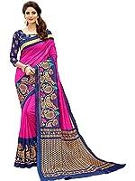 Glory Sarees Women's Silk Cotton Saree(zarna08_pink_blue)