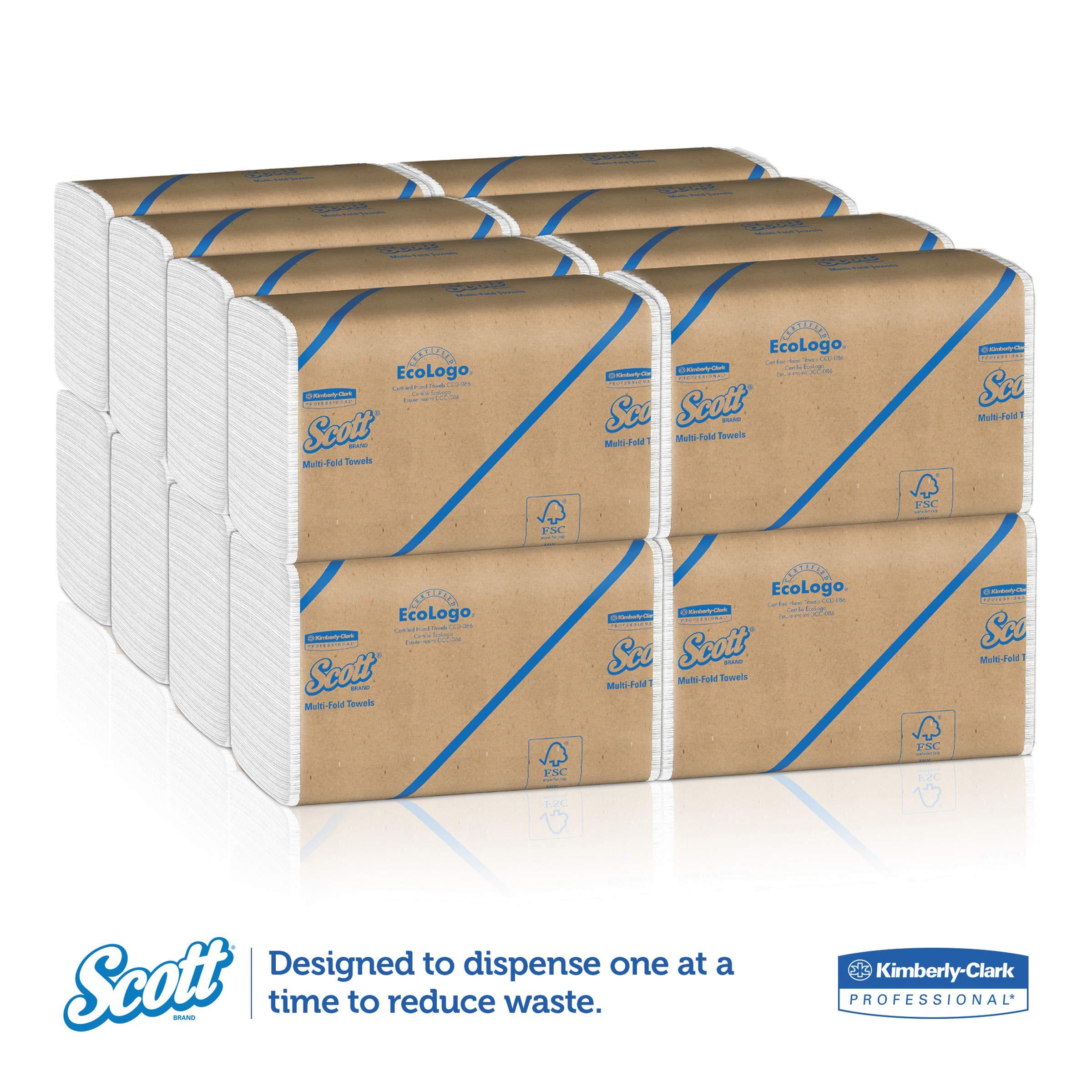 Scott 01840 Multi-Fold Towels, Absorbency Pockets, 9 1/5 x 9 2/5, 250 per Pack (Case of 16 Packs) by Scott (Image #3)