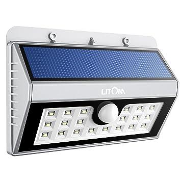 Led Lampe Solaire Etanche Litom Lampe Exterieur  Dtecteur De