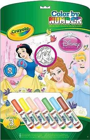 Crayola 55522 - Colorear Por Números : Princesas: Amazon.es ...