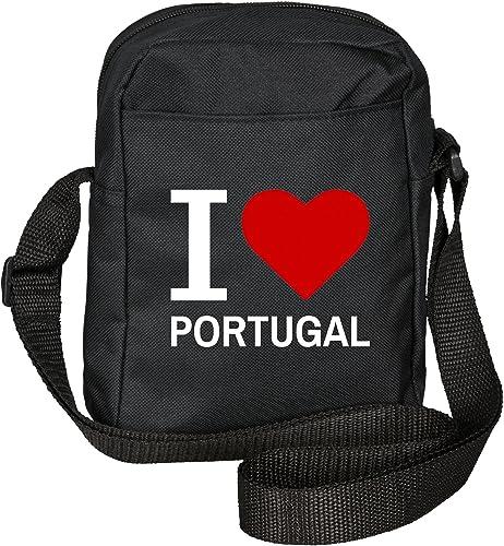 Multifanshop I Love Portugal Classic Sac bandoulière (Noir