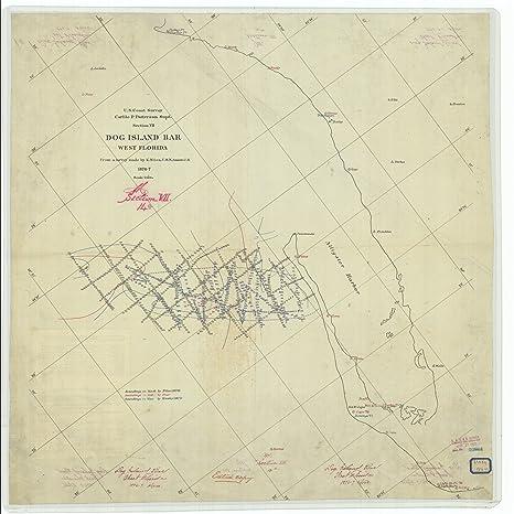 Dog Island Florida Map.Amazon Com Vintography 24 X 36 Giclee Print Nautical Map Or Image