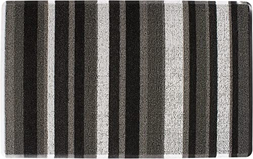 Ritz Tufted Door Mat with No-Slip Backing, 18 x 29 , Gray