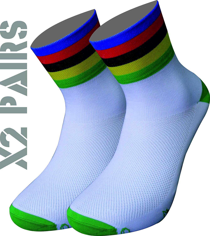 Triatlon Y MULTIDEPORTES. Running Ciclismo TKS Pack x2 Pares Calcetines t/écnicos dise/ño Campeon del Mundo