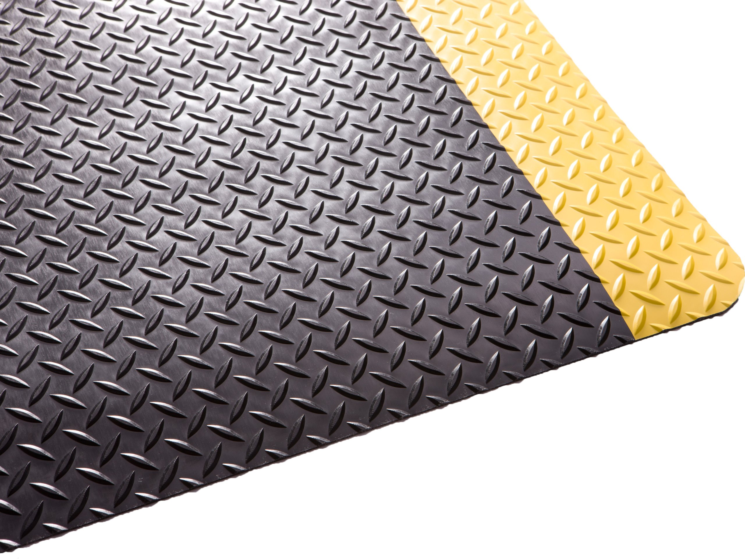 Guardian Safe Step Anti-Fatigue Floor Mat, Vinyl, 3'x5', Blk/Ylw by Guardian