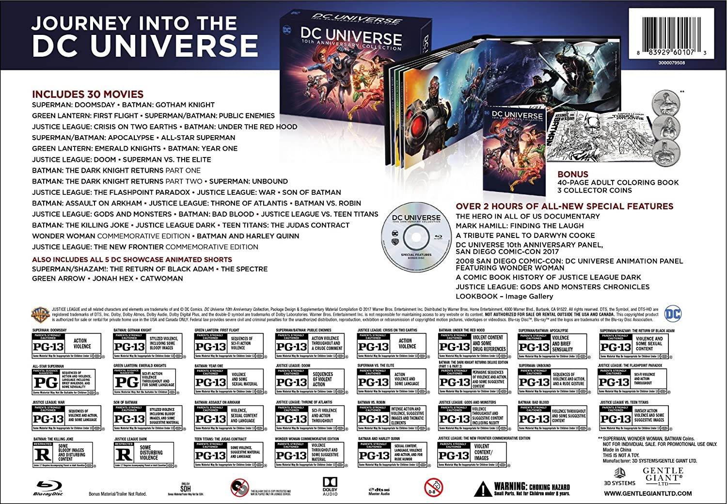 Amazon.com: DC Universe 10th Anniversary Collection, 30-Movies [Blu-ray]:  Various: Movies & TV