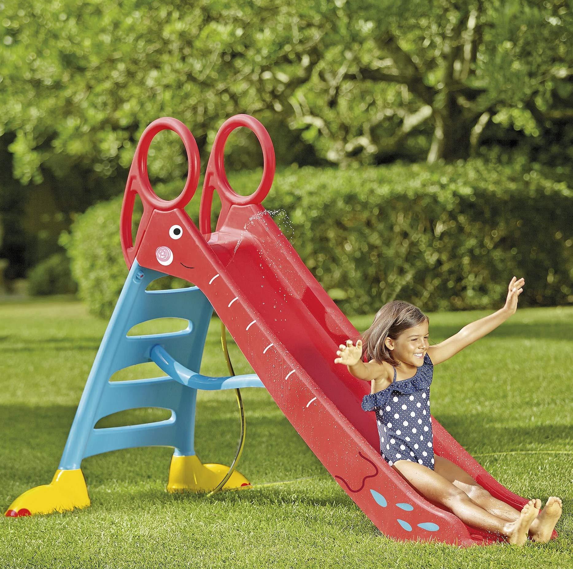 Keny Toys BIG Outdoor Kids Water Garden Slide 190 cm Children slide activity of toys Free-standing children slide PINK Made in EU