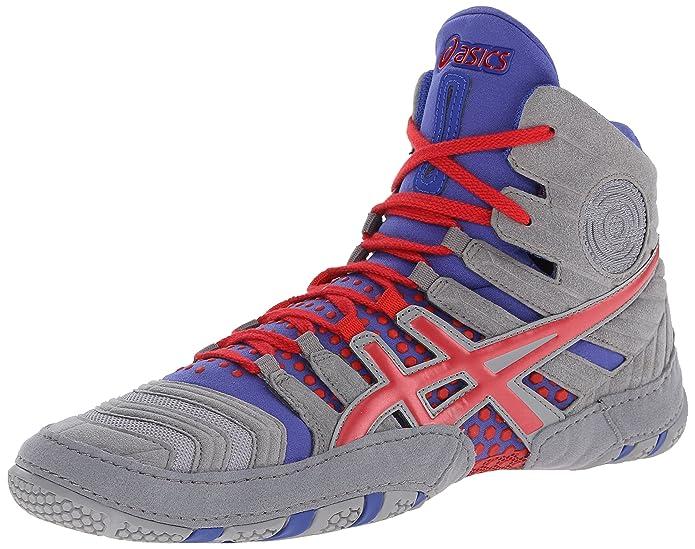 ASICS Men's Dan Gable Ultimate 4 Wrestling Shoe, Gray/Red/True Blue, 12.5 M  US: Amazon.co.uk: Shoes & Bags