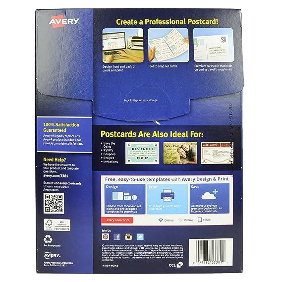 Amazon Avery 3381 Inkjet Postcards Index Cards 200 Blank