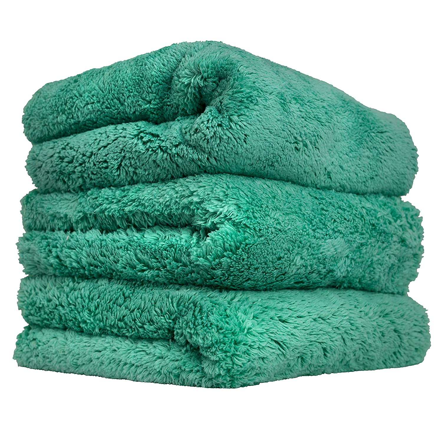 Chemical Guys MIC35603 Green 16' x 16'  Happy Ending Edgeless Microfiber Towel, 1 Pack