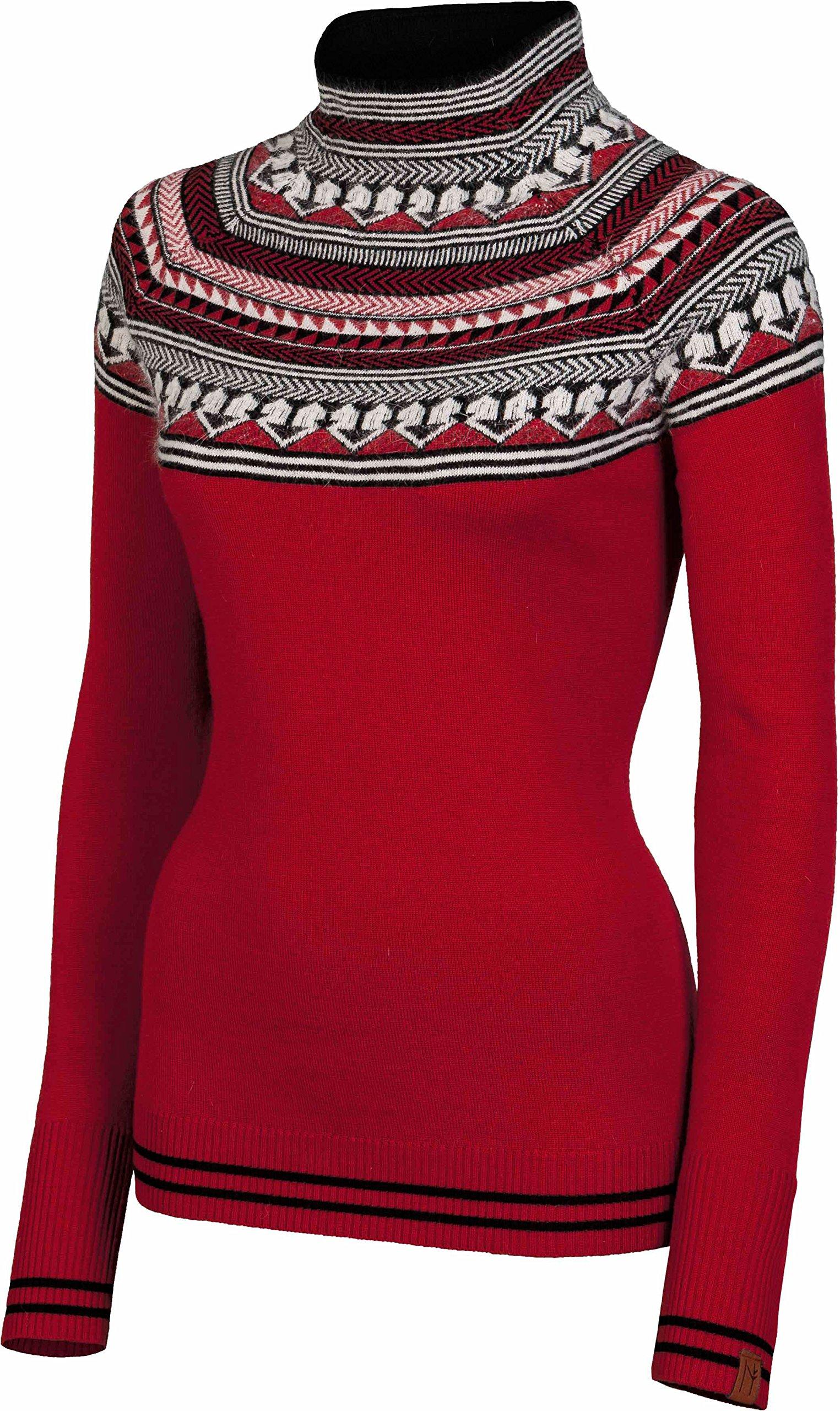 NEVE Women's Matilda Mock Neck Sweater, Red, X-Small