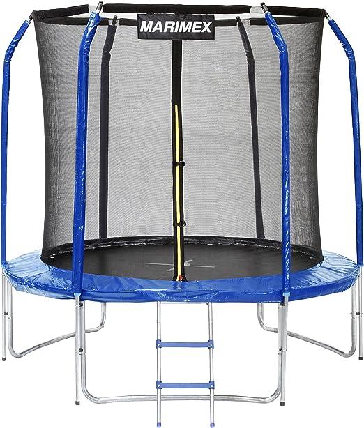 Marimex trampolín de jardín Trampolín de 2, 44 m, Azul, 244 x 244 ...