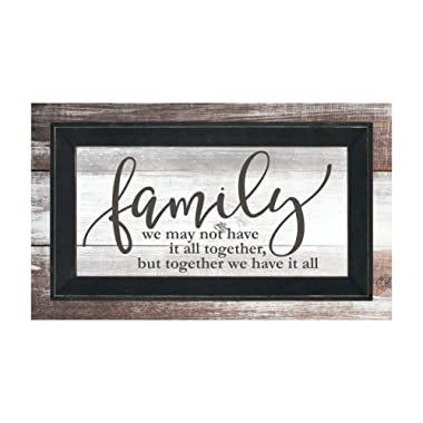 MRC Wood Products Family We Don't Have It All Together But Together We Have It All Framed TimberPrintz Pallet Sign 12x20