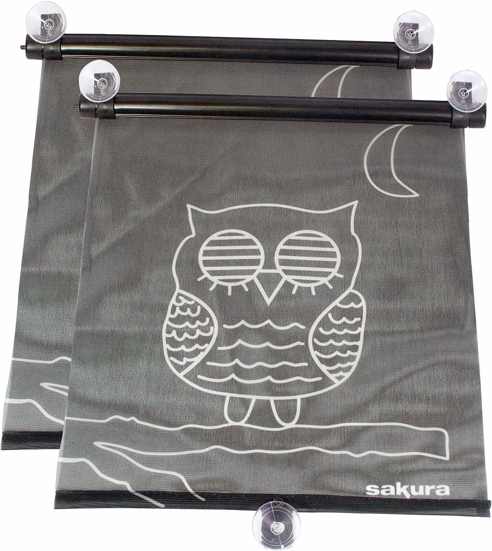 Owl Design Pack of 2 Sakura Roller Sunblinds