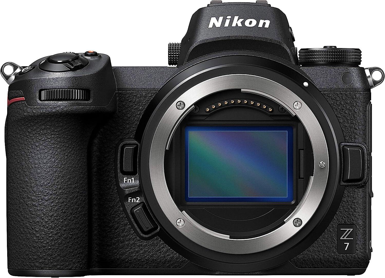 Nikon Z7 Full-Frame Mirrorless Interchangeable-Lens Camera with 45.7MP Resolution, Body, Black (1591)