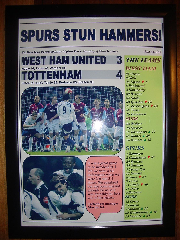 West Ham United 3 Tottenham Hotspur 4 - 2007 - framed print: Amazon.co.uk:  Welcome